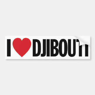 "I Love Heart Djibouti 11"" 28cm Vinyl Decal"