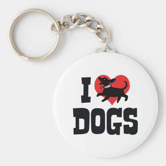 I Love Heart Dogs - Dog Canine Lover Keychain