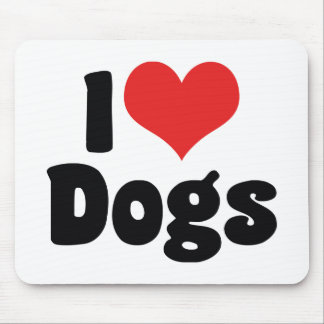 I Love Heart Dogs - Dog Canine Lover Mouse Pad