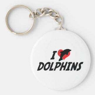 I Love Heart Dolphins - Dolphin Lover Keychain