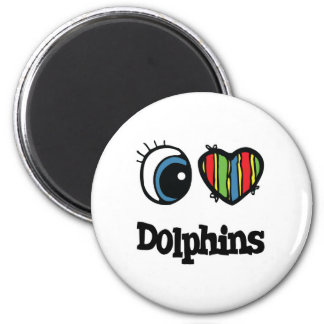 I Love (Heart) Dolphins Magnet