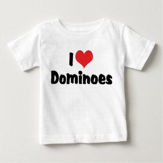 I Love Heart Dominoes Baby T-Shirt