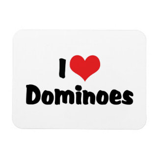 I Love Heart Dominoes Magnet