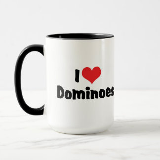 I Love Heart Dominoes Mug
