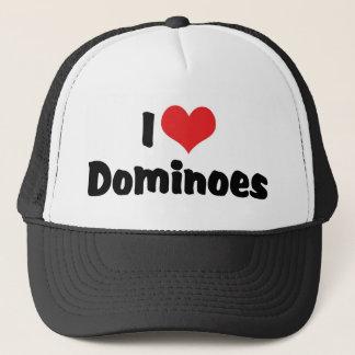 I Love Heart Dominoes Trucker Hat