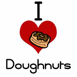 I love-heart doughnut photo sculpture ornament