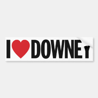 "I Love Heart Downey 11"" 28cm Vinyl Decal"
