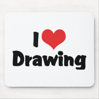 I Love Heart Drawing - Artists & Illustrator Mouse Pad
