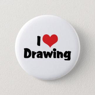I Love Heart Drawing - Artists & Illustrator Pinback Button