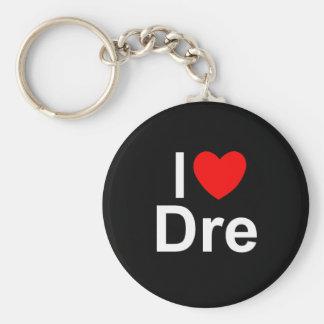 I Love (Heart) Dre Basic Round Button Keychain