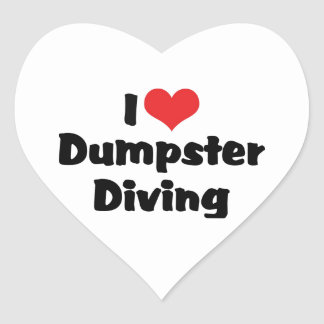 I Love Heart Dumpster Diving - Junk Lover Heart Sticker