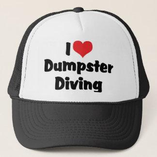 I Love Heart Dumpster Diving - Junk Lover Trucker Hat