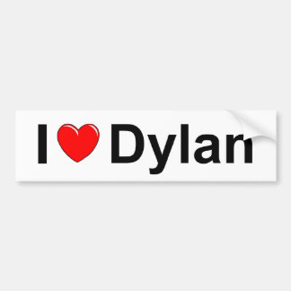 I Love (Heart) Dylan Bumper Stickers