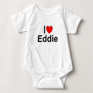 I Love (Heart) Eddie Baby Bodysuit