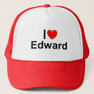 I Love (Heart) Edward Trucker Hat