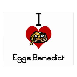 I love-heart eggs benedict postcard