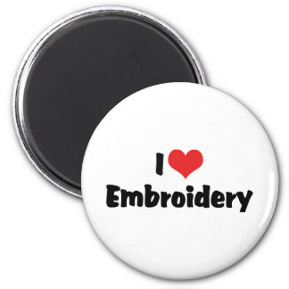 I Love Heart Embroidery - Needlepoint Sewing Magnet