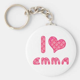i love / heart emma keychain for Emma lovers