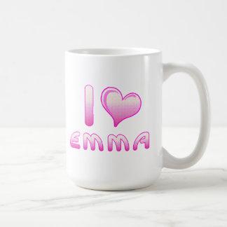 i love / heart emma mug / cup for Emma lovers