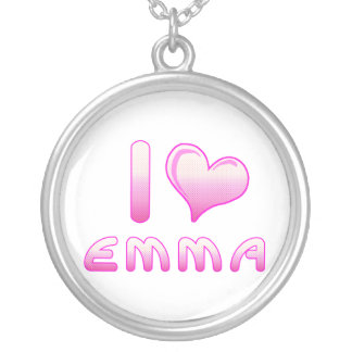 i love / heart emma necklace for Emma lovers