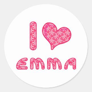 i love / heart emma sticker sheet for Emma lovers