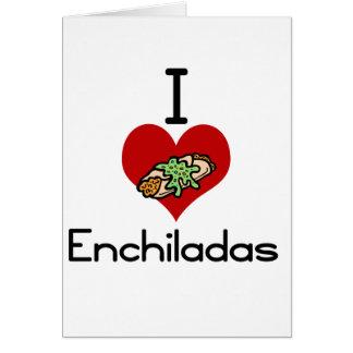 I love-heart enchiladas card