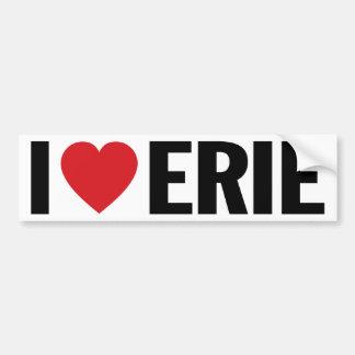 """I Love Heart Erie 11"""" 28cm Vinyl Decal"""