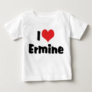 I Love Heart Ermine Baby T-Shirt