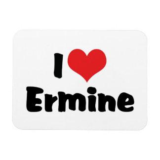 I Love Heart Ermine Magnet