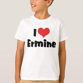 I Love Heart Ermine T-Shirt