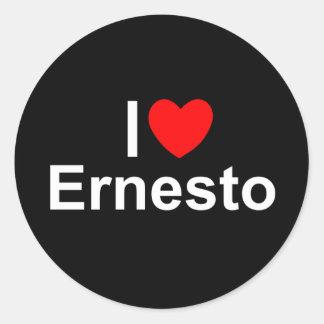 I Love (Heart) Ernesto Classic Round Sticker