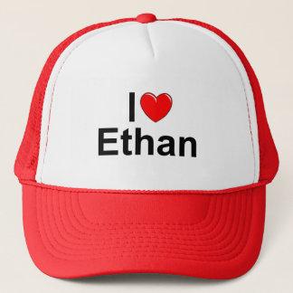 I Love (Heart) Ethan Trucker Hat