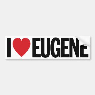 """I Love Heart Eugene 11"""" 28cm Vinyl Decal"""
