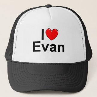 I Love (Heart) Evan Trucker Hat