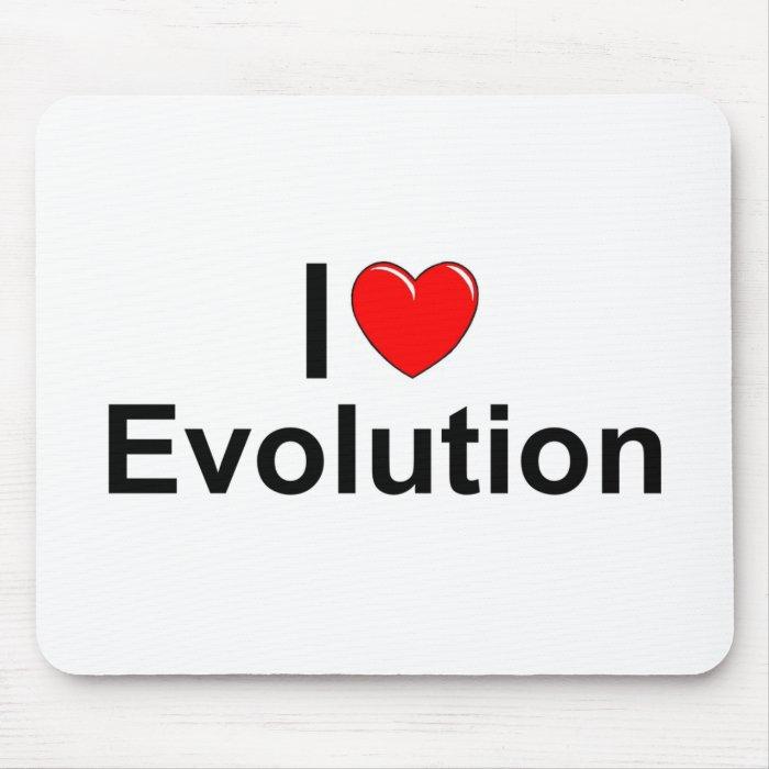 I Love (Heart) Evolution Mouse Pad