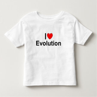 I Love (Heart) Evolution Toddler T-shirt