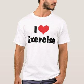 I Love Heart Exercise - Fitness Lover T-Shirt