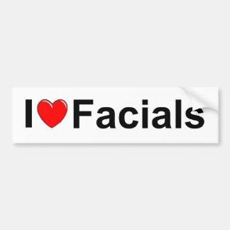 I Love (Heart) Facials Bumper Sticker