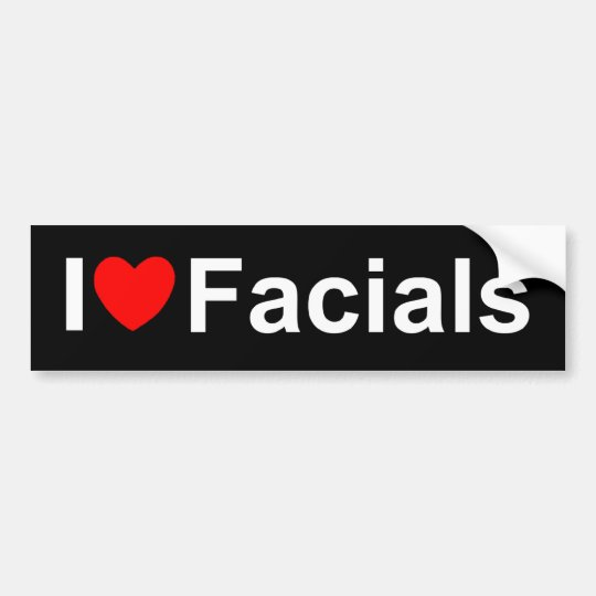 I Love (Heart) Facials Bumper Sticker