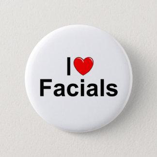 I Love (Heart) Facials Button