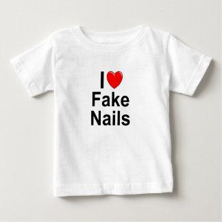 I Love (Heart) Fake Nails Baby T-Shirt