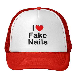I Love (Heart) Fake Nails Trucker Hat