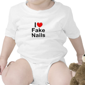 I Love (Heart) Fake Nails Rompers