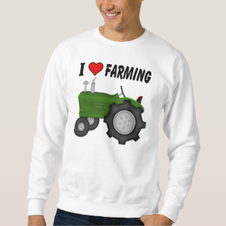 I love (heart) Farming Sweatshirt