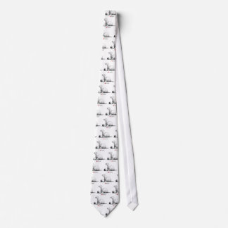 I Love (Heart) Ferrets: Pencil Drawing Neck Tie