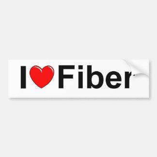 I Love (Heart) Fiber Bumper Sticker