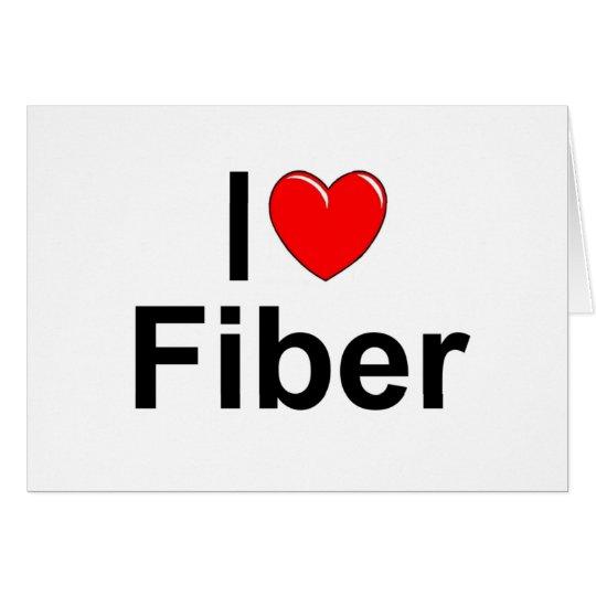 I Love (Heart) Fiber Card