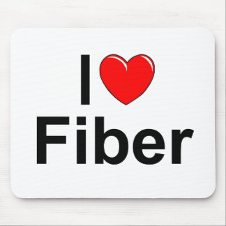 I Love (Heart) Fiber Mouse Pad