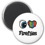 I Love (Heart) Fireflies Fridge Magnets