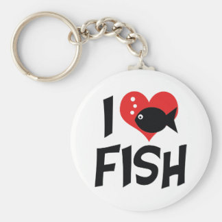 I Love Heart Fish - Aquarium Lovers Keychain